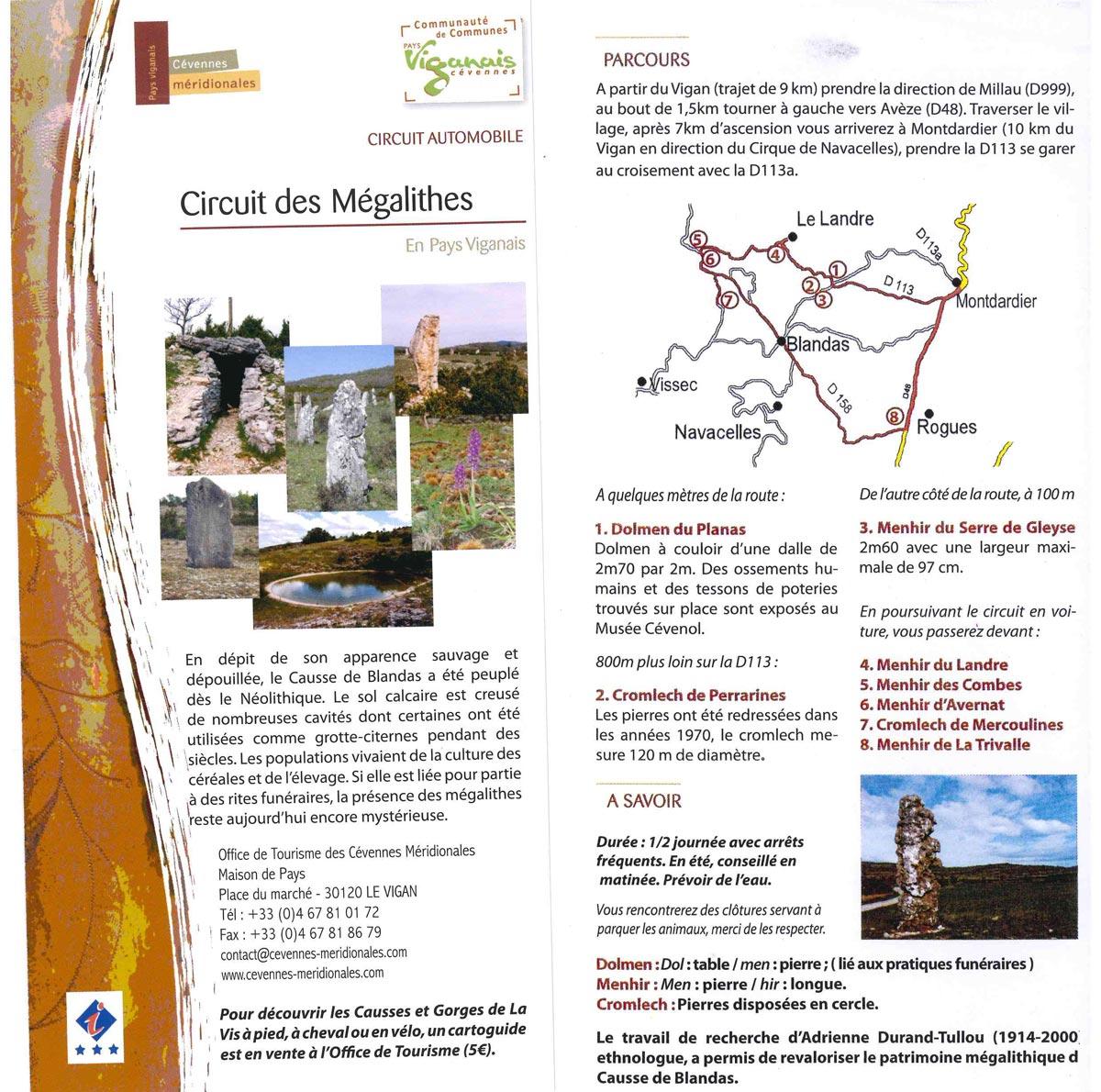 Circuit automobile découverte des Mégalithes