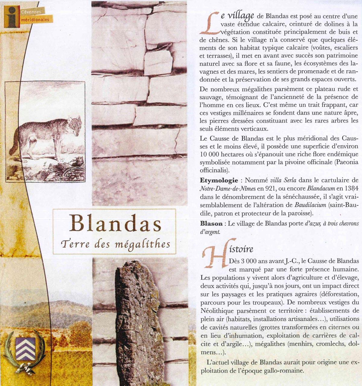 Le village de Blandas